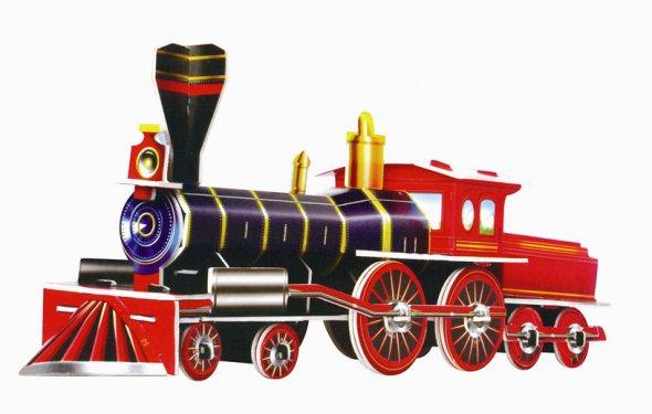 Paper-Steam-Train-3D-Puzzle