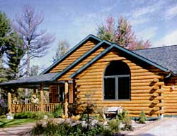Golden Eagle Log Homes ( in Wisconsin offers comprehensive packages that include many interior fixtures.
